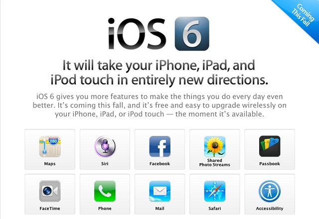 iOS 6 iPhone 5