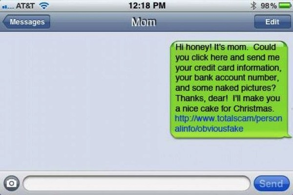 iPhone SMS spoof