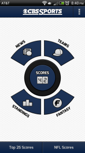 CBS SportsCaster - Android sports App