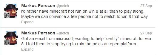 Minecraft Windows 8 Certification