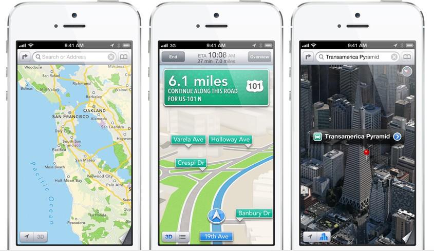 iPhone 5 Maps iOS 6