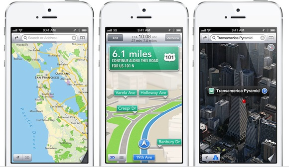 Apple maps in iOS 6