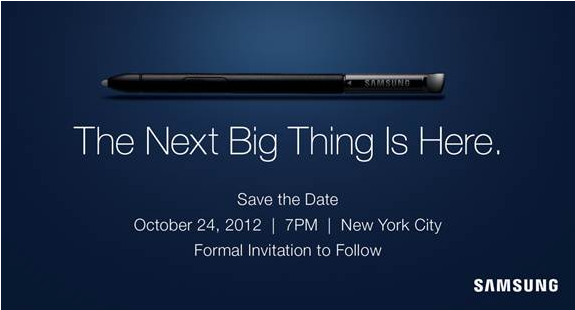 galaxy note 2 launch invite