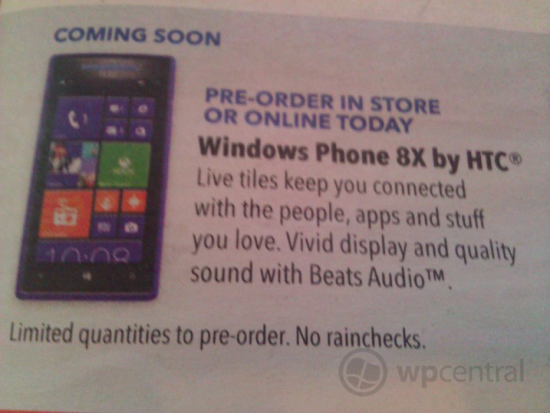 Best Buy HTC Phone 8X Leaked Ad