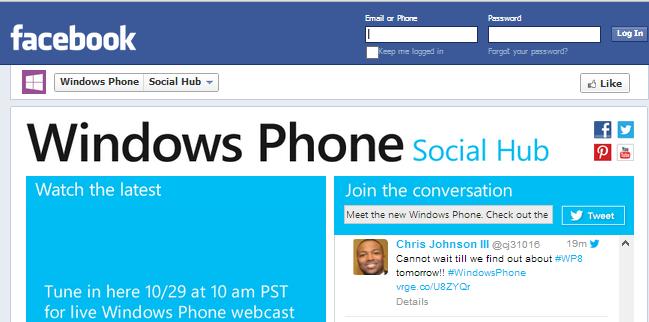 Windows Phone 8 Facebook