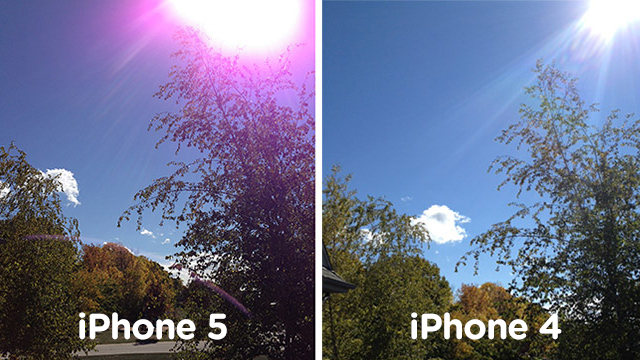 iPhone 5 Purple Flare