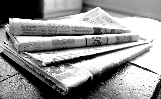 Traditional Newspapers are being replaced by tablets
