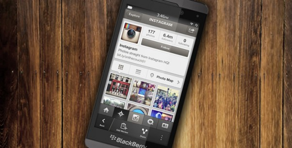 native BB10 Instagram app