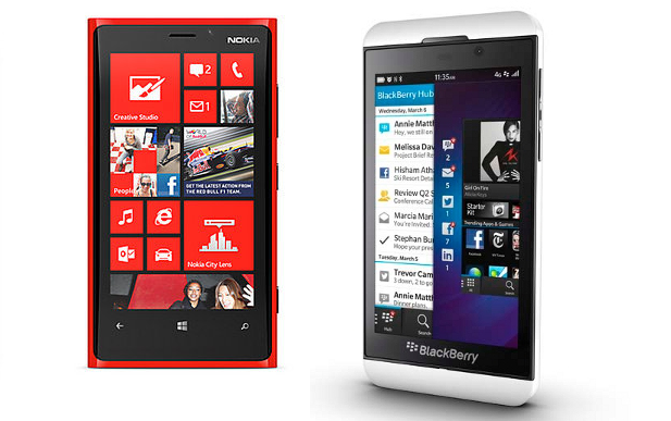 BlackBerry Z10 vs Lumia 920: The fight for third place