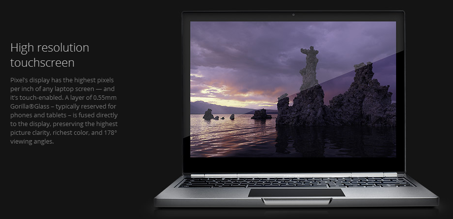 This is Google's Chromebook Pixel - Beautiful Design, Still Web Based