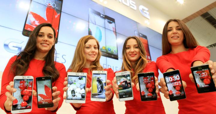 LG smartphones Mobile World Congress