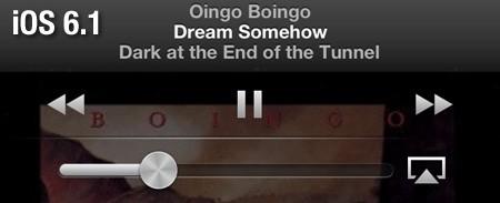 iOS 6.1 music
