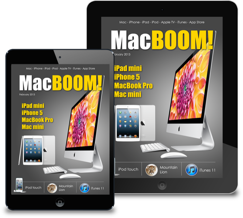 MacBoom interactive magazine for iPad