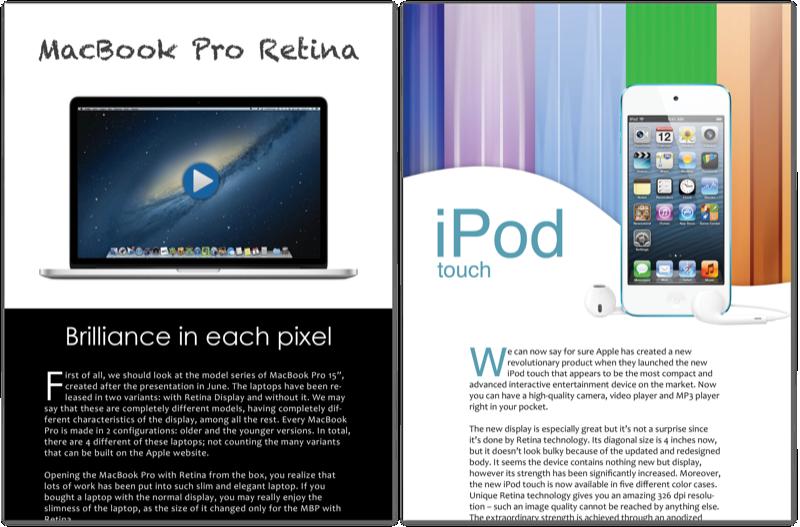 MacBoom interactive magazine for iPad