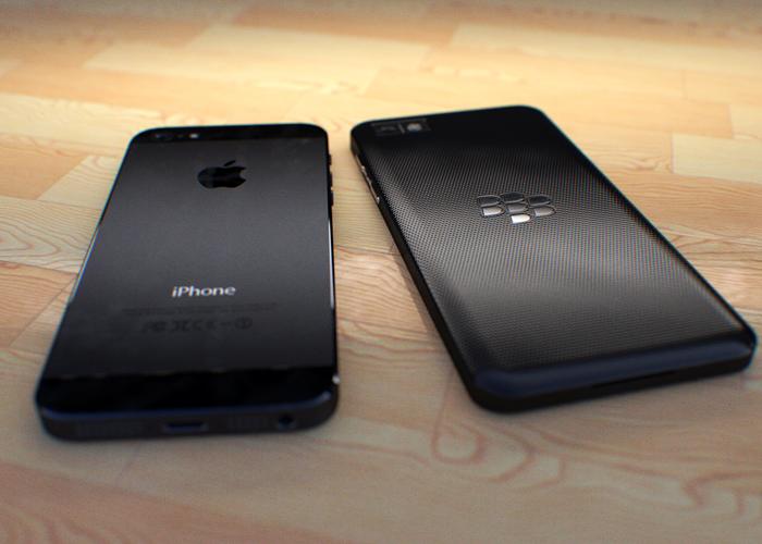 Z10 vs iPhone 5