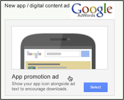 google click-to-install mobile app ads
