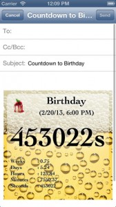 Reminder & Countdown free iphone app review