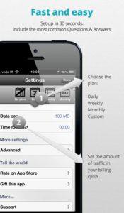 Data Counter iphone app