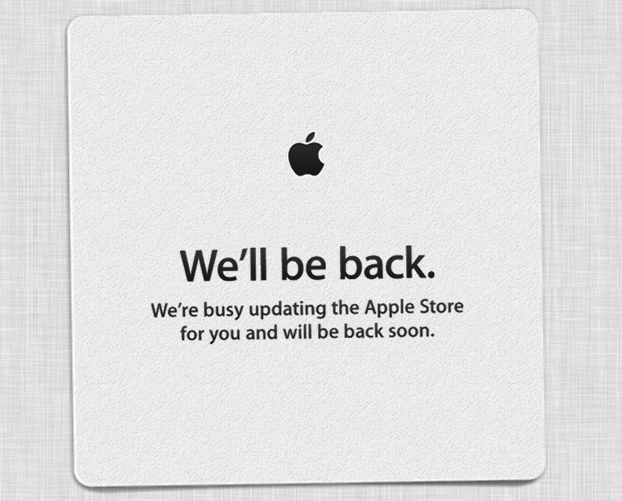 The Apple Store is down, is new hardware on the way?
