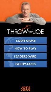 Throw With Joe iPhone Game