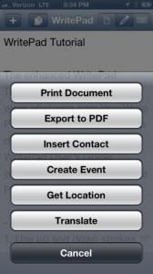 WritePad iPhone App