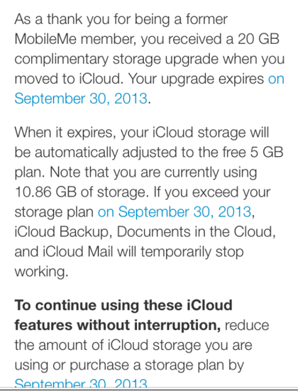 20GB iCloud offer expires September 30th