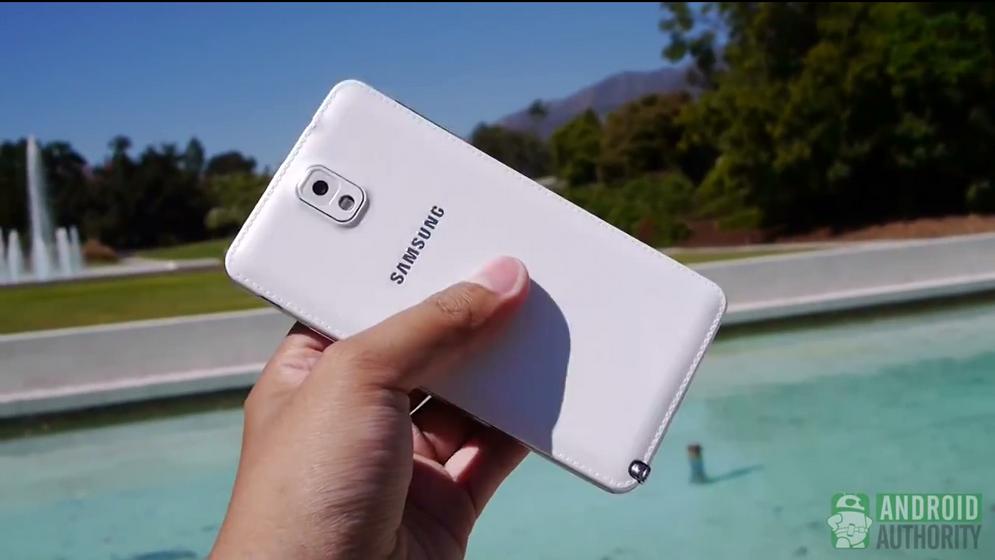Galaxy Note 3 Back Drop Test