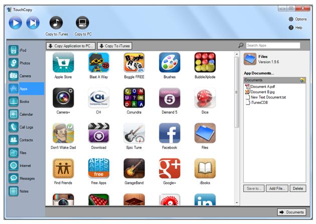 TouchCopy Mac App