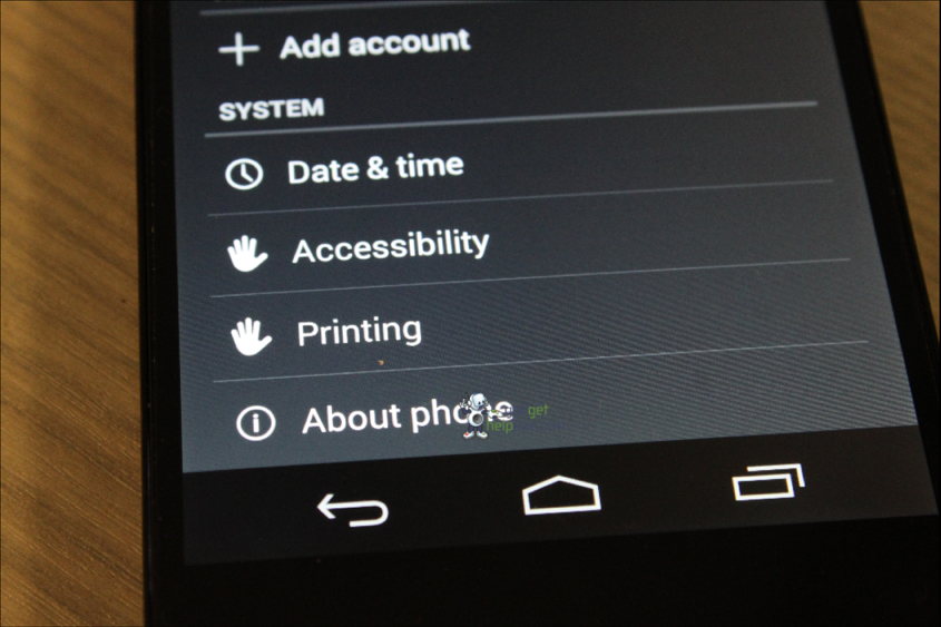 Android KitKat Printing Feature