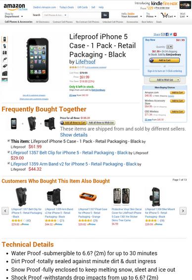iPhone 5 Lifeproof Waterproof Case on Sale for $40 (Reg. $80)