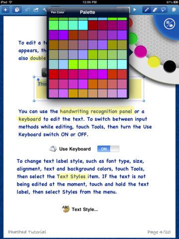 PhatPad iPad App