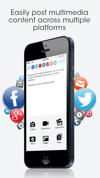 Everypost iPhone App Review: Update Facebook, Twitter, and Google+