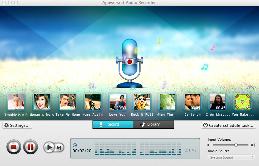 Apowersoft Audio Recorder for Mac App