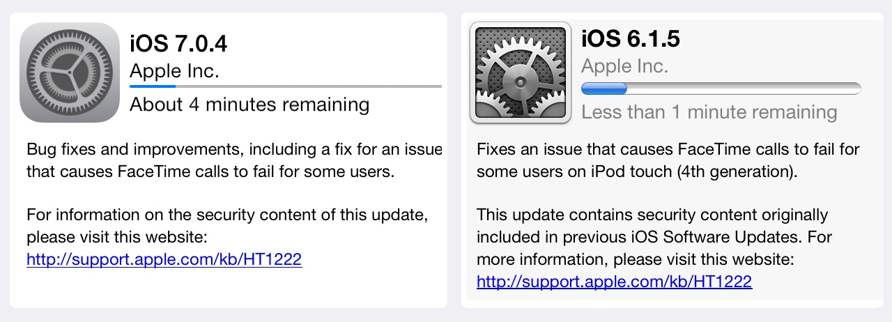 Apple Delivers Bug Fixes with iOS 6, iOS 7 Updates