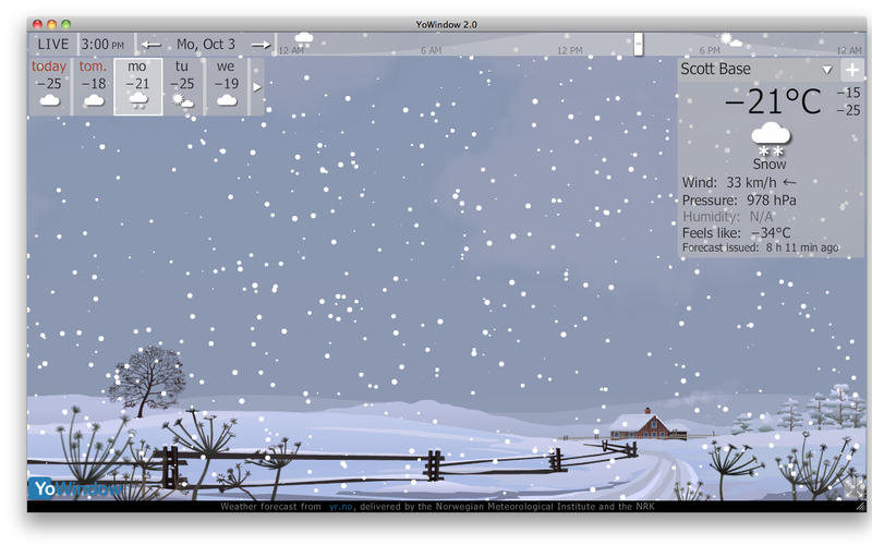 YoWindow Weather Mac App