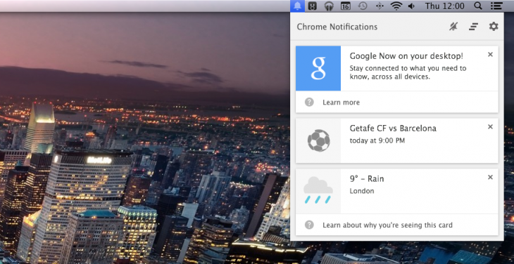 Google Now comes to Chrome on the desktop