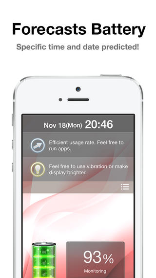 iPhone BatteryForecaster app