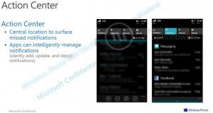 Windows Phone 8.1 Action Center Leaked
