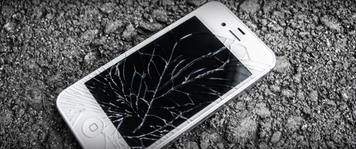 shattered iPhone display