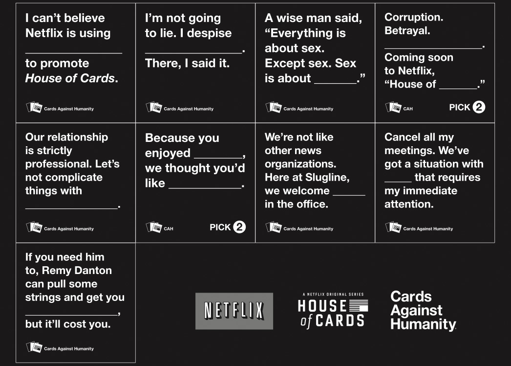 House of Cards against humanity this #valentinesday