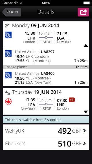 Momondo iPhone App: Find Cheap Flights
