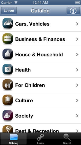PickWEB iphone app
