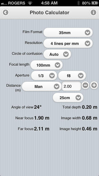 Douglas Photo Calculator iPhone App Review: Say Cheese!