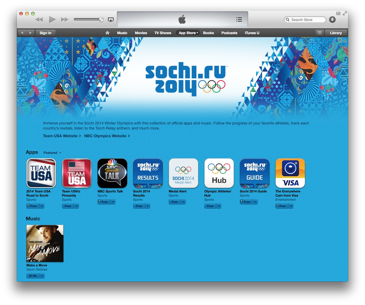 Sochi 2014 iphone apps