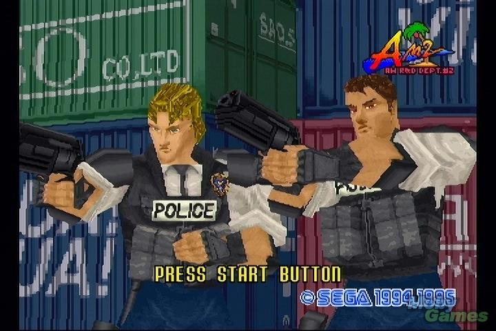 Light Gun Shooters; Virtua Cop Gameplay