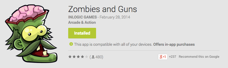 Zombies and Guns Android App Review