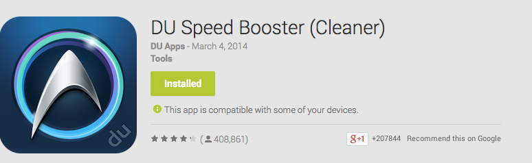 DU Speed Booster Android App Review