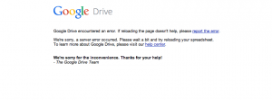Google Services Go Down, Users Upset