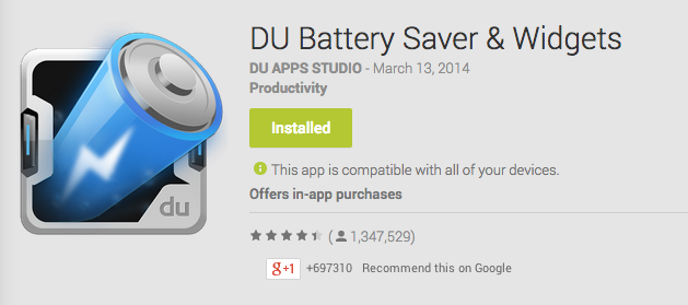 DU Battery Saver and Widgets Android App Review