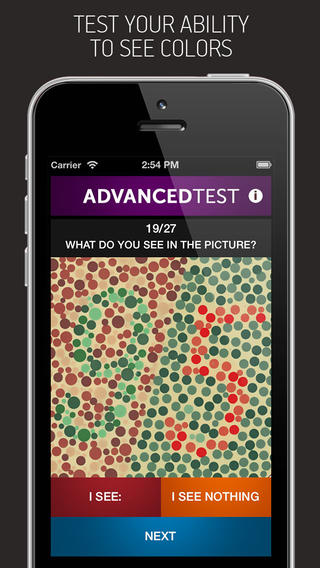 Color Vision Test Pro iPhone App Review - Check Your Color Vision